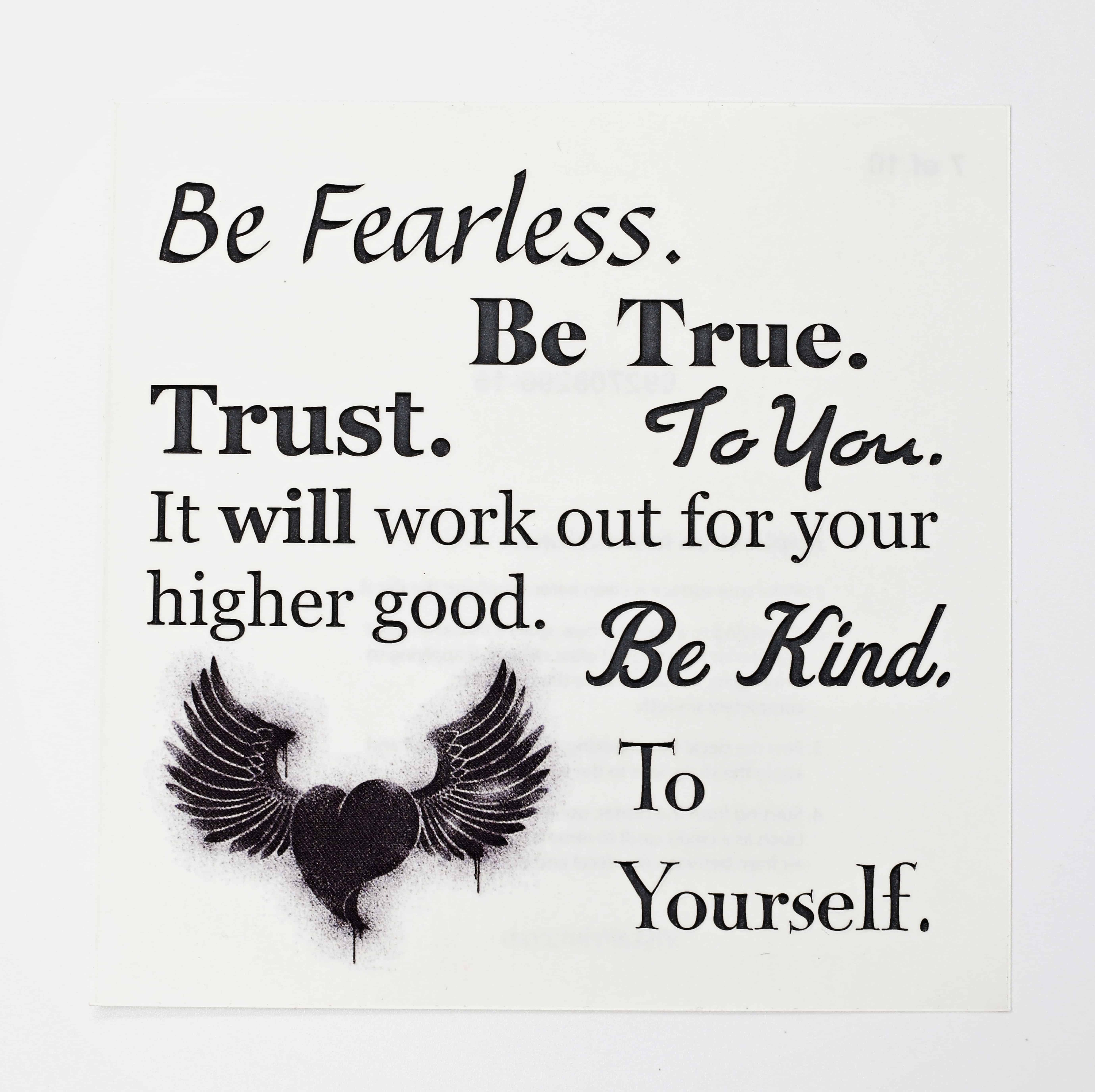 Be Fearless Inspirational Decal Gift
