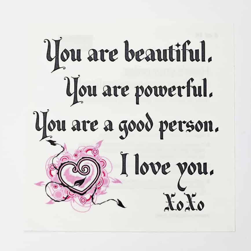 You Are Beautiful Inspirational Decal