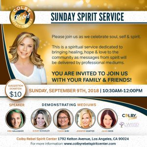Sunday Spirit Service September