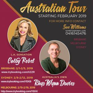 Colby Australia Tour with Rhys Wynn Davies