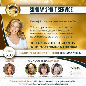 Sunday Spirit Service-November