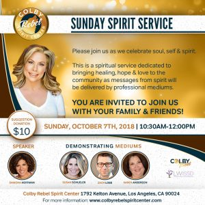 Sunday Spirit Center-November 2018