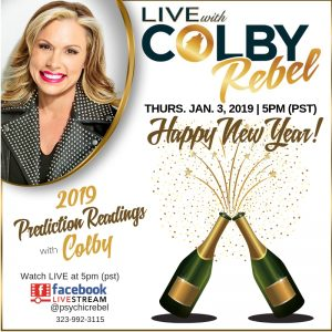 LIVE with Colby Rebel-Prediction Readings