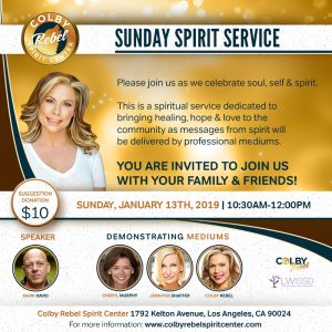Sunday Spirit Service-January 2019
