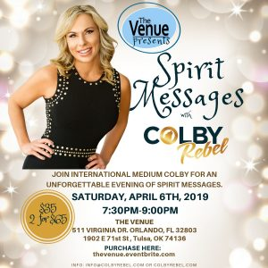 Colby Rebel-Venue Orlando Spirit Messages