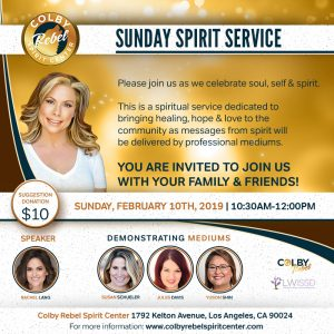 Sunday Spirit Service-Feb 2019