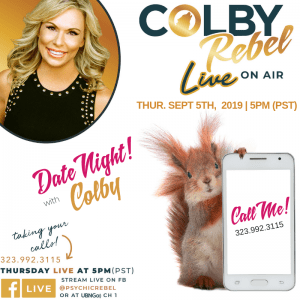 Colby Rebel LIVE podcast Date Night