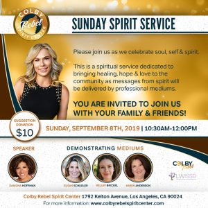 Sunday Spirit Service September 2019